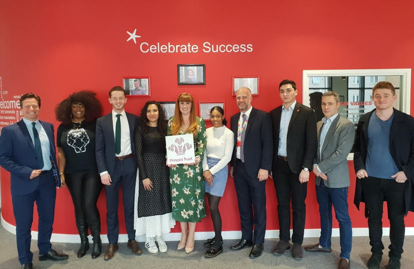 Kelly meets young people at Princes Trust