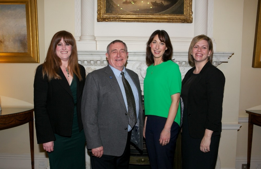 Samantha Cameron with Kelly Tolhurst, David Taylor and Kelly Wells