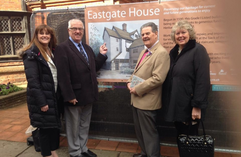 Kelly Tolhurst visiting Eastgate House