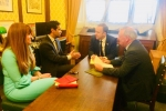 Kelly with Rehman Chishti MP, Medway Council Leader Cllr Alan Jarrett, and the Health Secretary, Matt Hancock MP